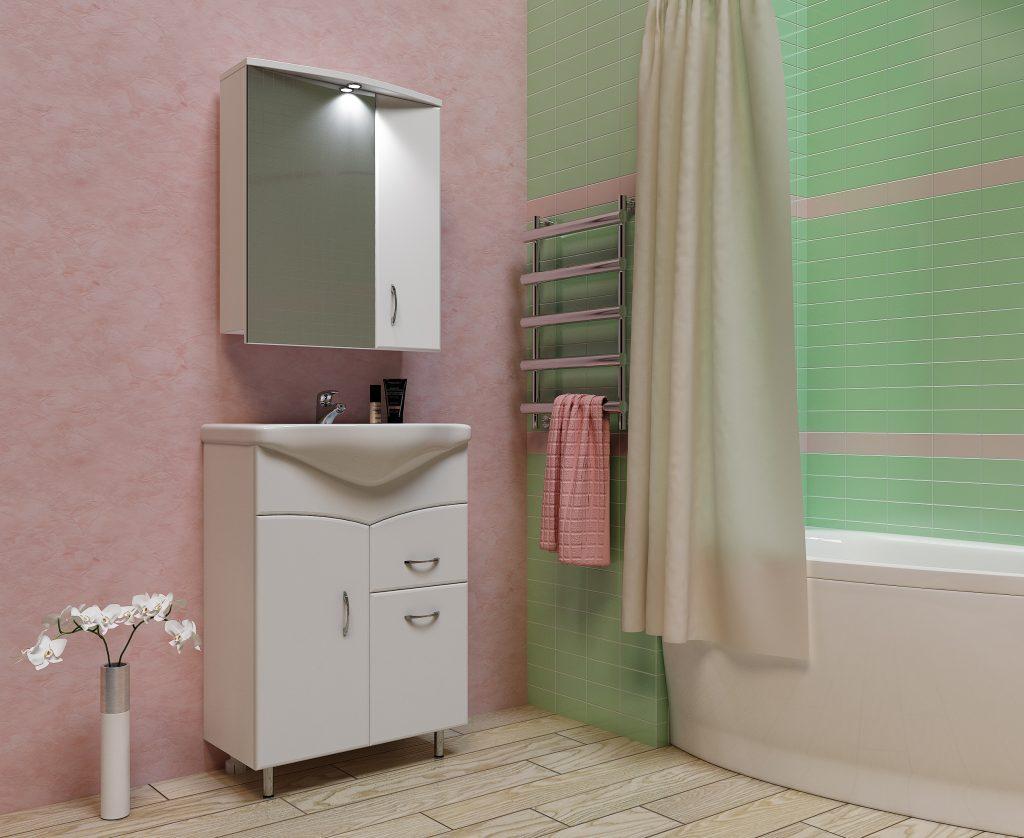 Комплект Белый Глория, Milano, Мебель для ванных комнат