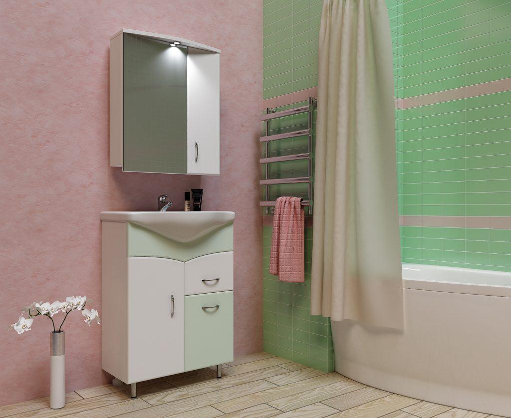 Комплект Глория Салатовый, Milano, Мебель для ванных комнат