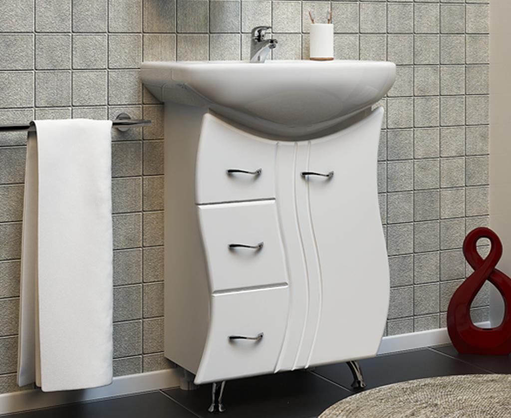 Тумба Лагуна Белая | Milano | Мебель для ванных комнат