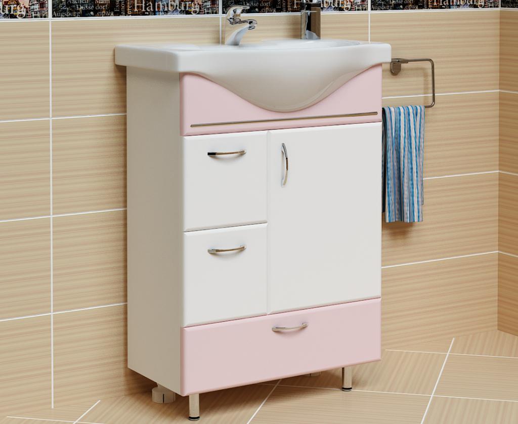 Тумба Мария Розовая, Milano, Мебель для ванных комнат