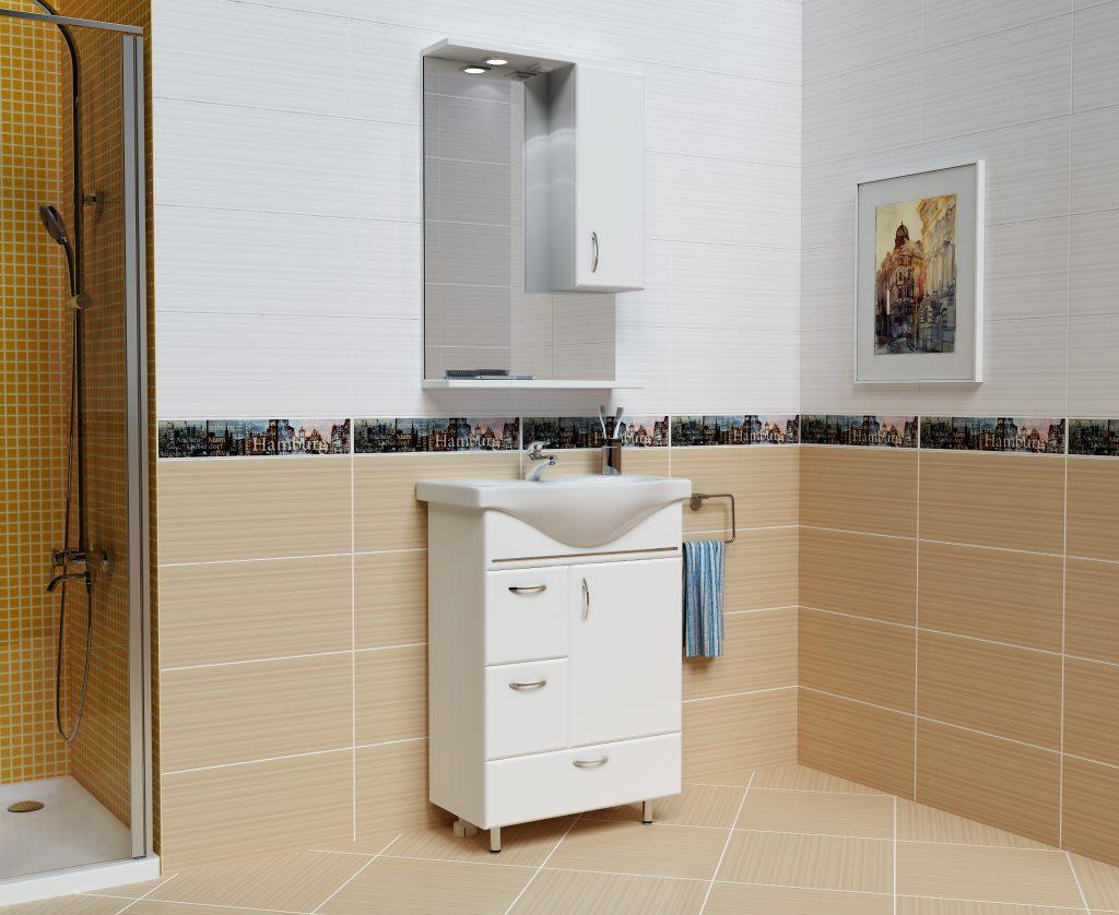 Комплект Мария Белый, Milano, Мебель для ванных комнат