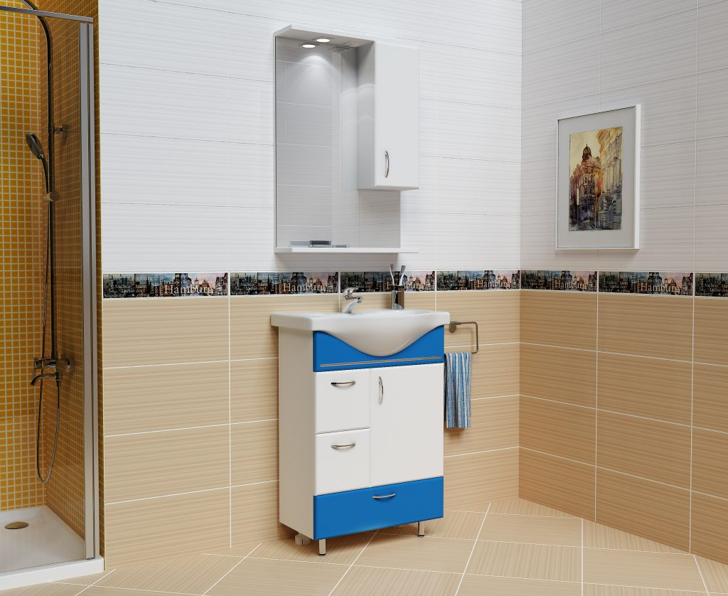 Комплект Мария Морская волна, Milano, Мебель для ванных комнат