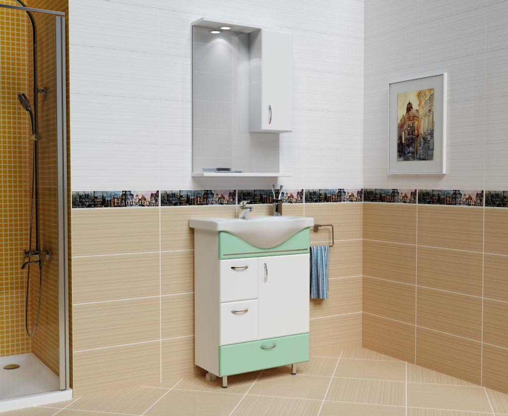 Комплект Мария Салатовый, Milano, Мебель для ванных комнат