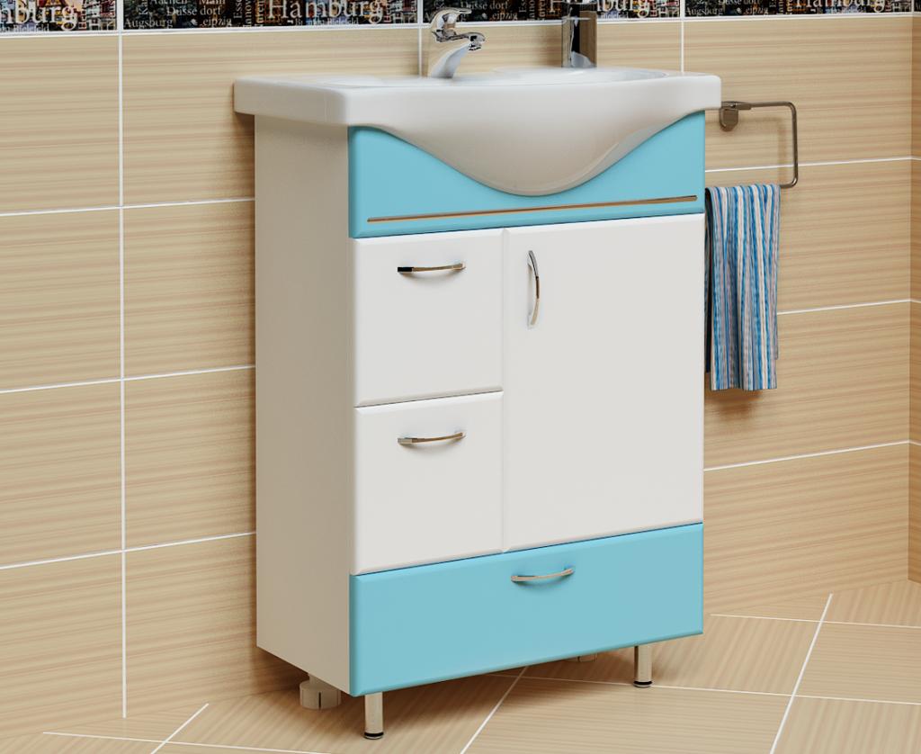 Тумба Мария голубая, Milano, Мебель для ванных комнат