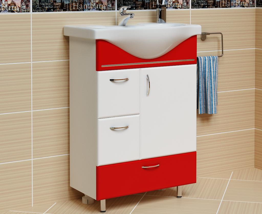 Тумба Мария Красная, Milano, Мебель для ванных комнат