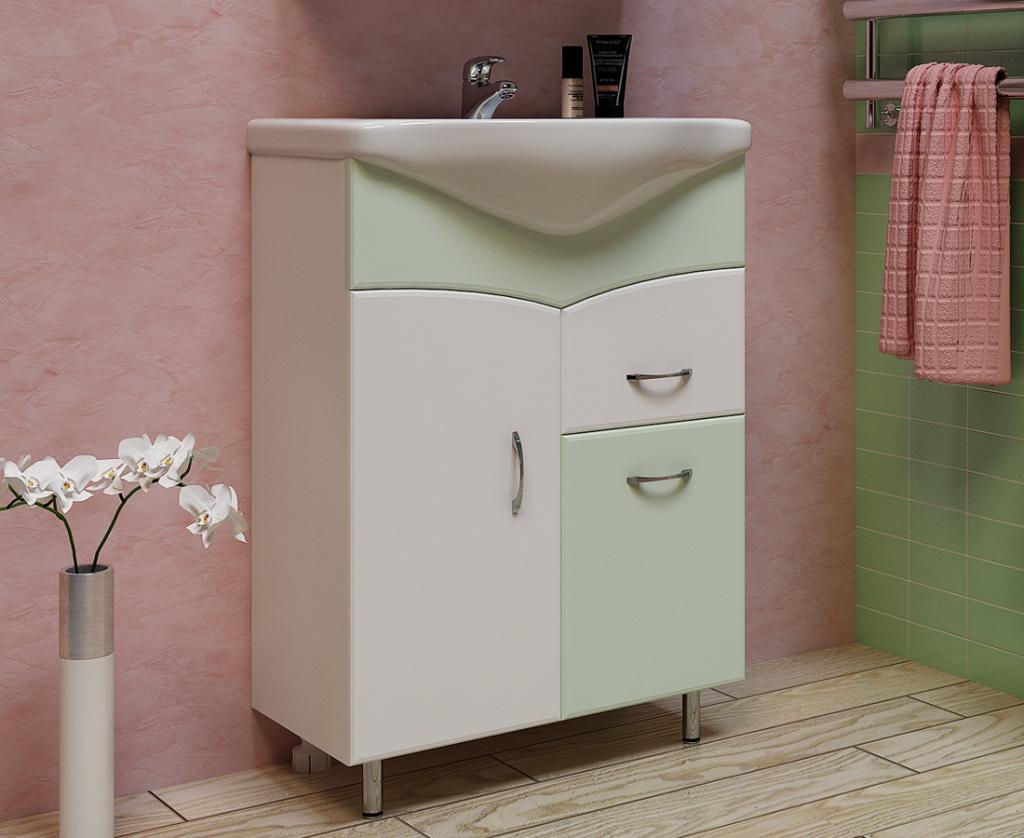 Тумба Глория Салатовая, Milano, Мебель для ванных комнат