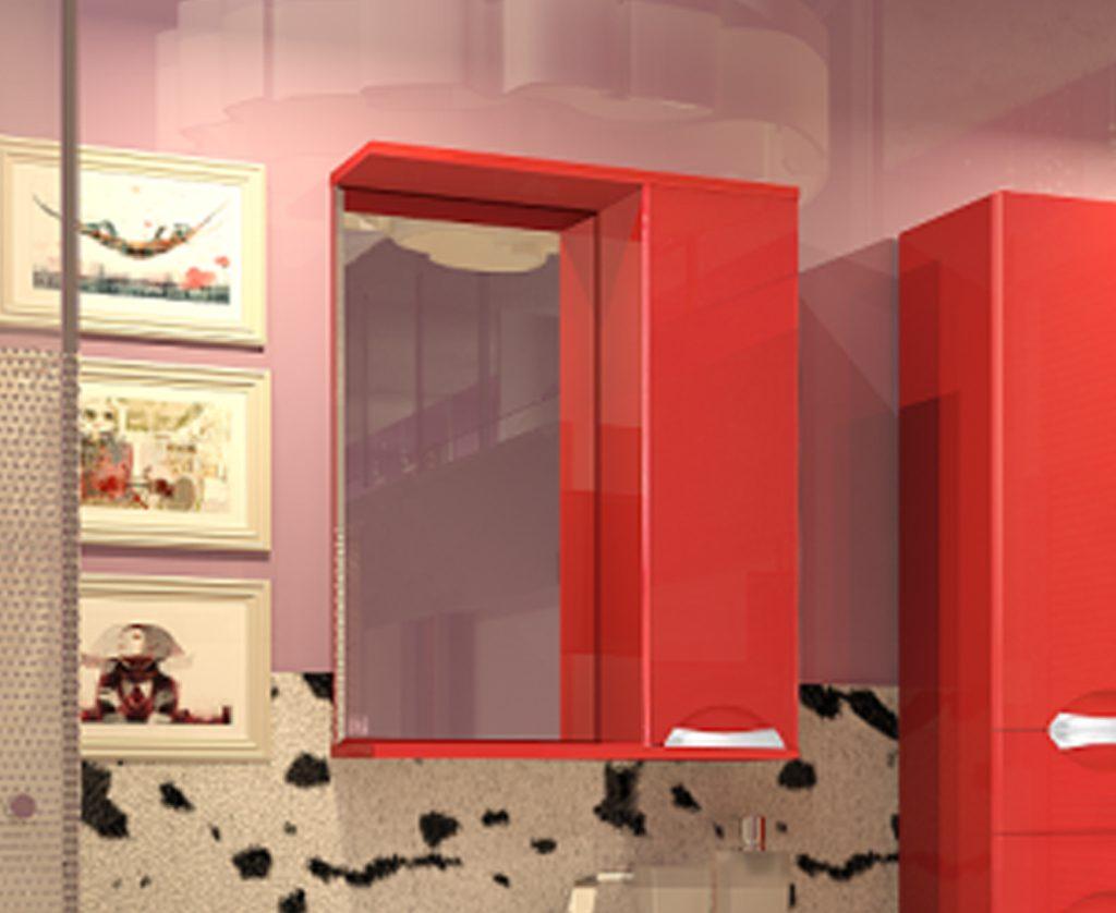 Зеркало-шкаф Камелия 65 (красный)